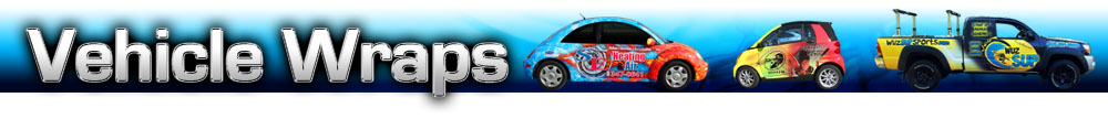 Vehicle wrap banner